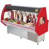 Vitrina Exhibidor Carnes Refrigerada Duplex Itália 2.00m