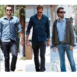 Calça Masculina Jeans Sarja Skinny Variadas Ultma Peça