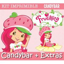Kit Imprimible Frutillitas - Invitaciones + Promo 2x1