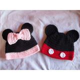 Gorros De Minnie Mickey Para Bebe Chicos Tejido Crochet