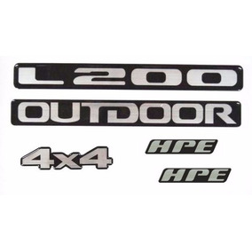 Adesivos Resinados L200 Outdoor 4x4 + Lateral Hpe