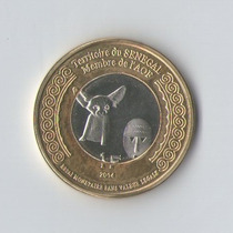 Senegal - 1 Franc 2014 - Bimetalica - Sc - Fenek