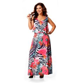 Vestido Longo Aline Barros By Com Top Sobreposto