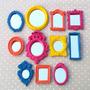 Kit 11 Mini Espelhos Coloridos