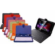 Funda Teclado Usb Para Tablet 7 Pulgadas Colores Eg