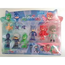 Brinquedos Pj Masks 6 Pçs Modelo Heróis De Pijama R$34,99