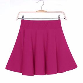 Ultima Hermosa Falda Corte Plato Tabla Color Roja