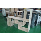 Modulo L - Divisor De Ambientes- Mesa De Tv Lcd - Rack -pino
