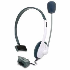 Diadema Para Consola Xbox 360 Blanca Negra Cn Microfono Live