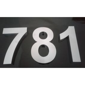 Números Letras 30 Cm Caixa Aço Inox Polido Cortado A Laser