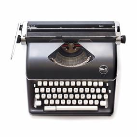 Maquina De Escrever Nova Wer Preta - Design Retro