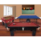 Kit 3 Mesas Sinuca Ping Pong Pebolim Profissional Klopf