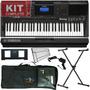 Kit Teclado Musical Yamaha Psr E453 Usb Midi Frete Grátis
