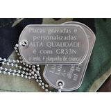 Kit Dog Tag Premium Gravação Personalizada 75/12