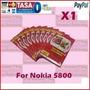 2x Plástico Protector Táctil Celulares Nokia Xpress Music