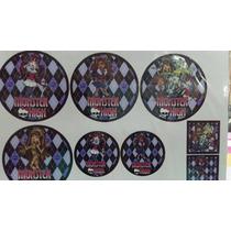 Planchas De Stickers Para Candy Bar Monster High O Frozen