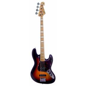 Baixo Sx Sjb75 Sb Modelo Fender Jazz Bass 75 Em Ash