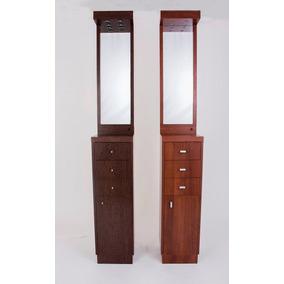 mueble tocador de pie para make up con espejo luz y cajones