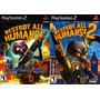 Destroy All Humans! 2 Para Playstation 2 (kit 2 Jogos Ps2