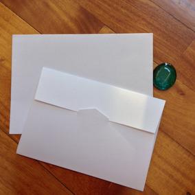 Sobres Invitaciones. Boda Opalina Blanca 16x11.5 90 Grs