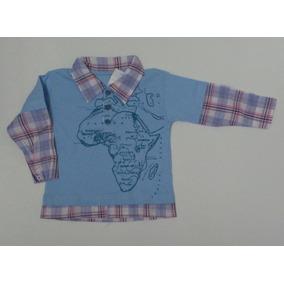 Camisa Pólo Bebê Manga Comprida Tam. 1