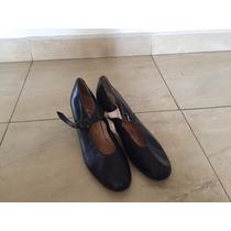 Zapatos De Danza Folklorica Negros