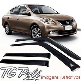 Calha Defletor Chuva Nissan Versa 2011 / 2017 - Tg Poli