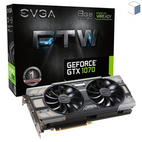 Placa Vga Evga Geforce Gtx 1070 Ftw Gaming 8gb Gddr5 256bits