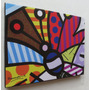 Romero Britto Quadro Sala Quarto 60x80cm-butterfly