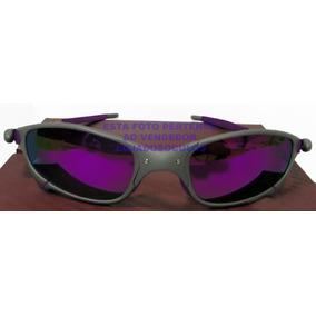 Oculos Oakley Juliet Xmetal Lente E Borrach Roxa+lente Black