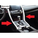 New Civic G10 16 17 Moldura Cambio Aço Escovado Croma Painel