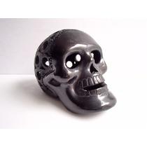 Artesanía De Barro Negro, Cráneo Caladado Hecho A Mano