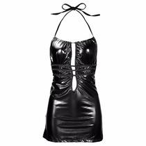 Stripper Sexy Mini Negro Vestido Strech Fiesta Disfraz Edeca