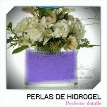 25 Sobres Morado Perlas De Hidrogel Decoracion Pd