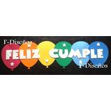 Cartel Guirnalda Feliz Cumple Cumpleaños Globos Goma Eva