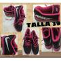Zapatos Nike Talla 39 Mujer Negro Fuxia Americanos