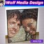 Cuadro Mural 40x50 Muchas Fotos Fotomosaico Personalizado