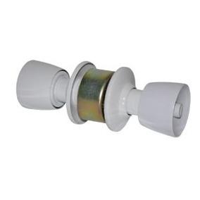 Fechadura Para Porta Divisoria Eucatex Tubolar - Cor Branca
