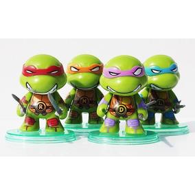 Bonecos Tartarugas Ninjas Action Figure Coleção C/ 4 Pçs