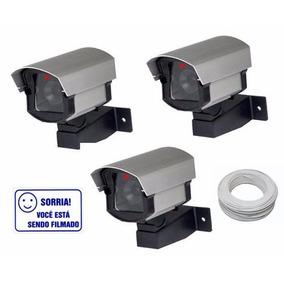 Câmera Falsa Com Led Micro Baby- Kit Com 3 Peças + Brinde