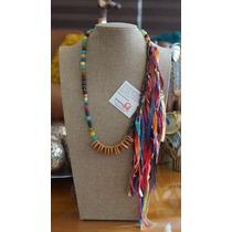 Collar De Seda Indu Y Agatas, Original Jql