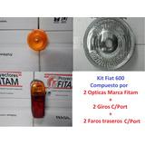 Kit Opticas Fiat 600 + Giros + Traseros + Aros