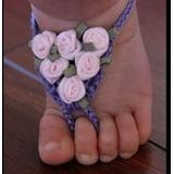 Sandalia Bebe Pies Descalsos,tejidas Crochet