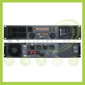 Amplificador De Poder Bunker Mx-1500 Electronica Winners