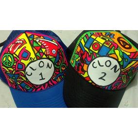 Gorras Completamente Personalizadas A Mano Pintura Neon