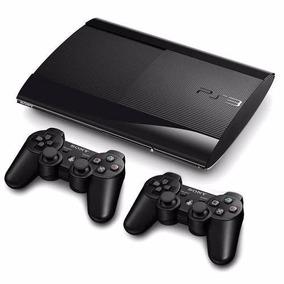 Ps3 Super Slim 500 Gb+ 85 Jogos Originais+2 Controles+ Pes18