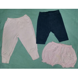 Kit 3 Itens (calça, Bermuda E Short) - Bebê Menina - 6 À 9 M