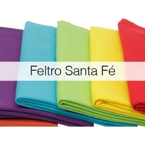 Kit Feltro Santa Fé Com 12 Cortes 30 X 68 Cm Super Promoção
