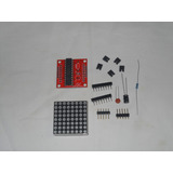 Kit Display Matriz 8 X 8 Led Rojo Encadenable Arduino Pic