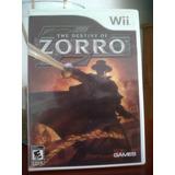 Wii, El Destino De El Zorro, Seminuevo, Original